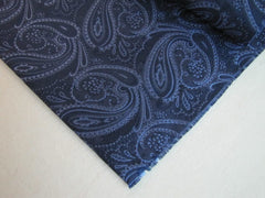 Blue Paisley Silk Fabric - Center Street Tie Makers