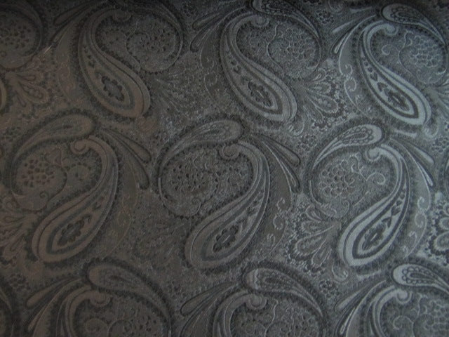 Black Paisley Silk Fabric - Center Street Tie Makers