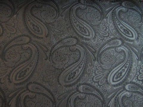 Black Paisley Silk Fabric
