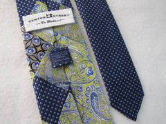Green and Blue Patchwork Silk RTW - Center Street Tie Makers