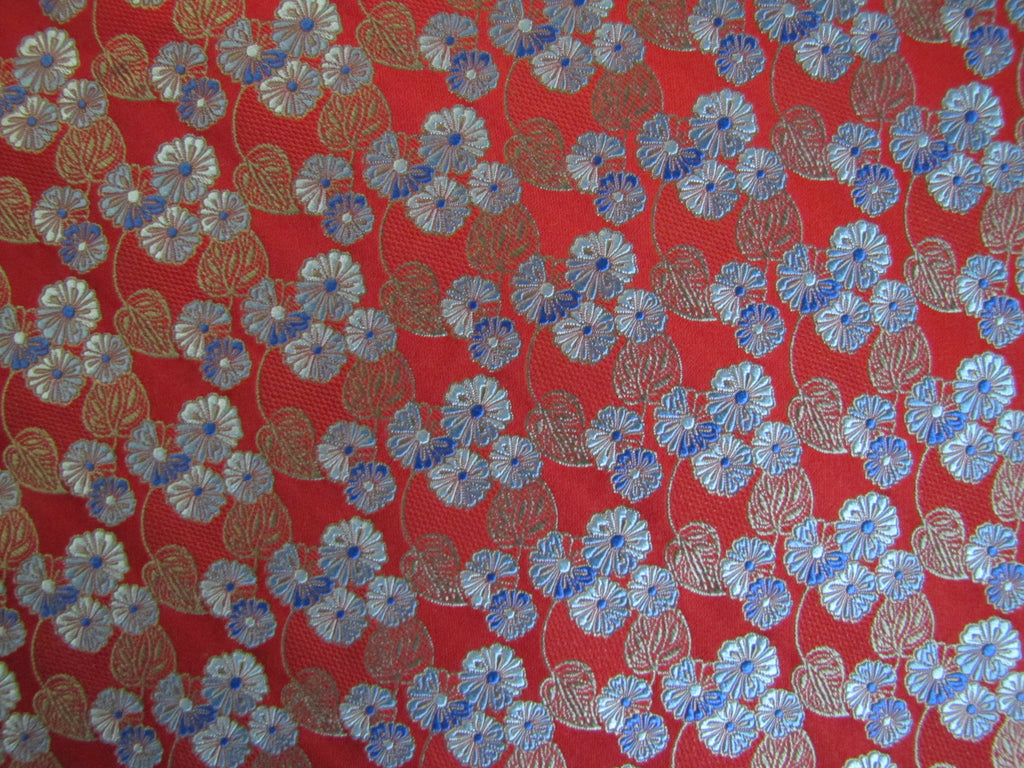 Red and Blue Floral