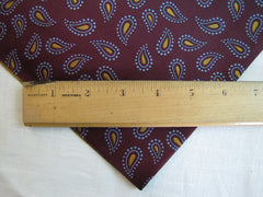 Deep Red Paisley Silk - Center Street Tie Makers