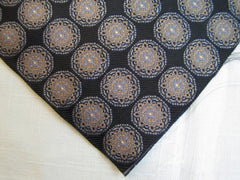 Navy Blue Star Medallion - Center Street Tie Makers