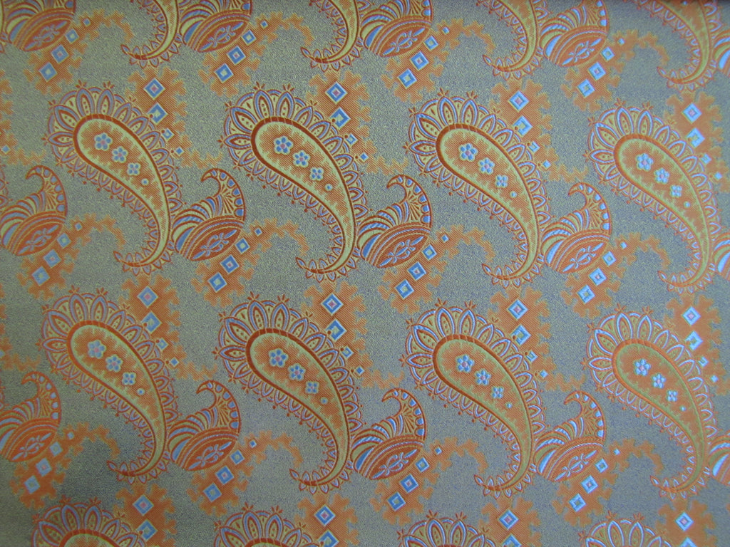 Orange and Sandy Beige Paisley - Center Street Tie Makers