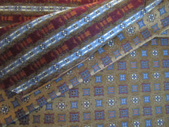 Brown and Red Silk Fabric used by Tie Makers