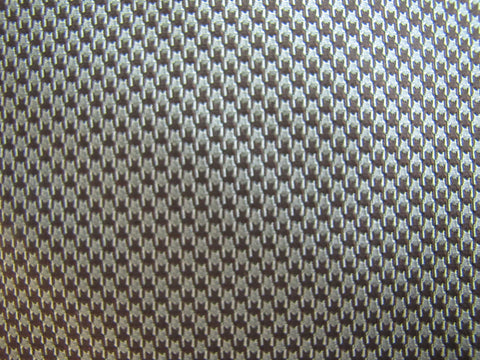 Brown and Silver Houndstooth
