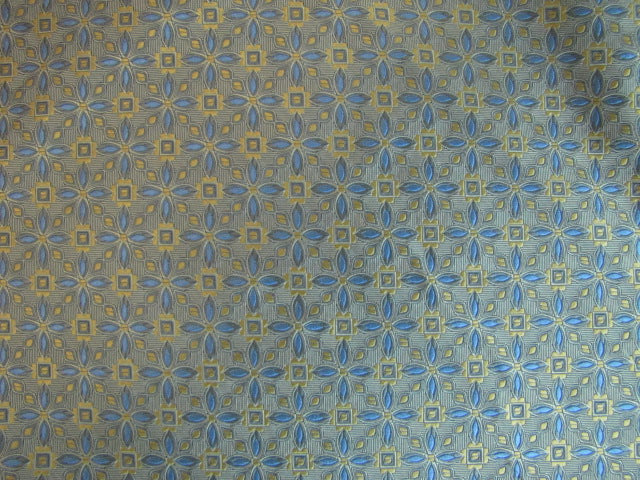 Gold and Blue Star Pattern - Center Street Tie Makers