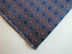 Navy Blue and Copper Flower Medallion