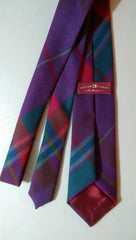 Purple Red Wool Tartan - Center Street Tie Makers