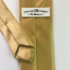Gold Satin Silk - Center Street Tie Makers
