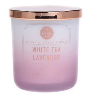 White Tea Lavender- Medium Single Wick Candle