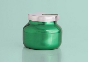 Volcano Metallic Green Petite Jar, 8 oz-Metallic Jars Collection