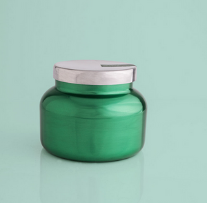 Volcano Metallic Green Signature Jar, 19 oz-Metallic Jars Collection