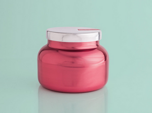 Pink Peppermint Metallic Pink Signature Jar, 19 oz-Metallic Jars Collection