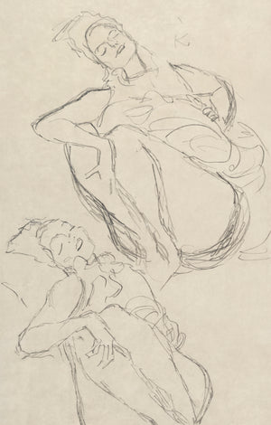 Open image in slideshow, Two Studies for a Crouching Woman
