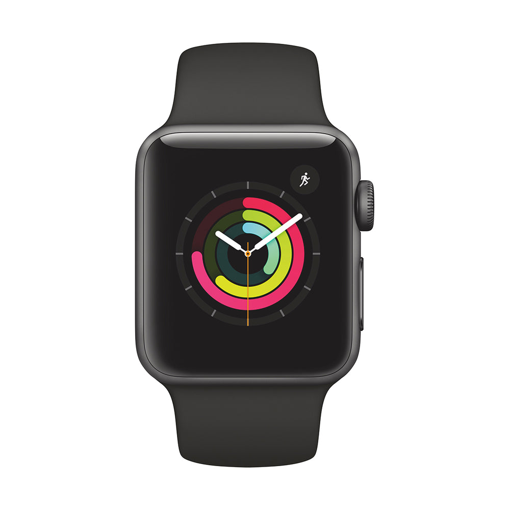Watch Series 3 (42 MM/GPS/Black Aluminum Case with Space Gray Band)