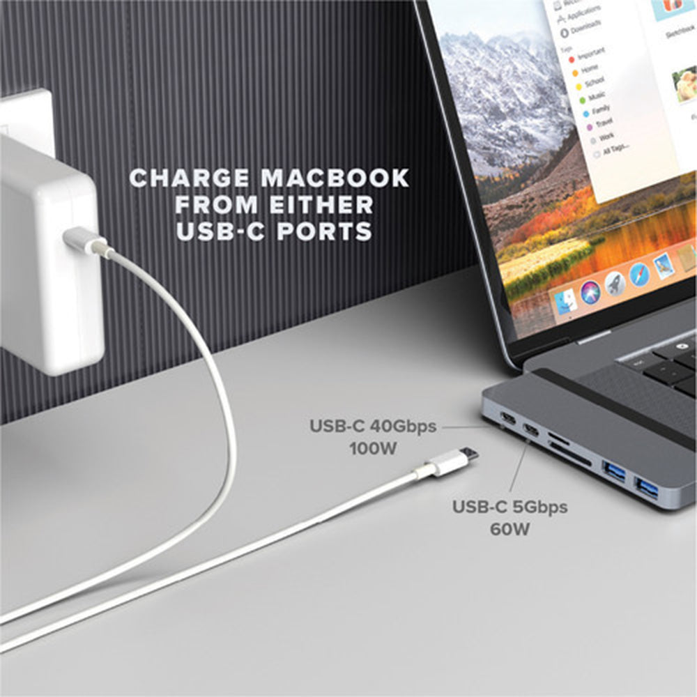 Duo 7-in-2 USB-C Hub for MacBook Pro/Air