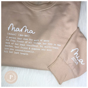 Personalised Mama Definition Jumper