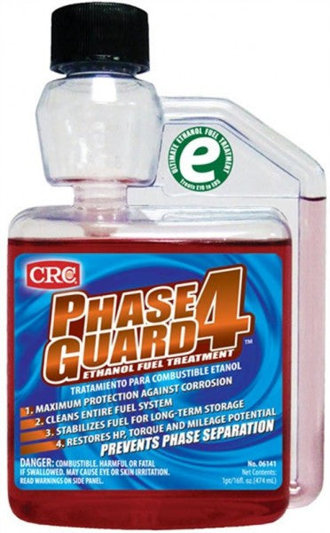 Fuel Stabilizer - CRC PHASEGUARD4 Ethanol Fuel Treatment (16 oz. Bottle) - Never Ending Details