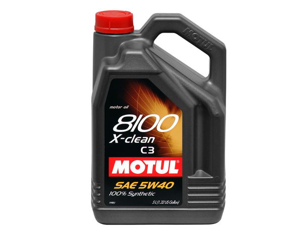 MOTUL 8100 X-clean 5W-40 Synthetic Engine Oil (5 Liter) - Never Ending Details
