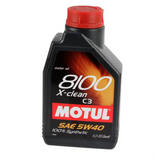 MOTUL 8100 X-clean 5W-40 Synthetic Engine Oil (1 Liter)