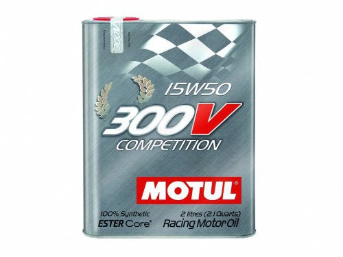 Motul 2L Synthetic-ester Racing Oil 300V COMPETITION 15W50 - Never Ending Details - 1
