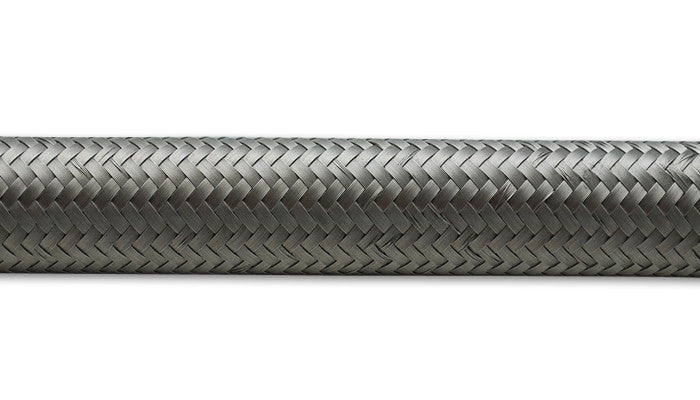"Vibrant Performance 10ft Roll of Stainless Steel Braided Flex Hose; AN Size: -4; Hose ID 0.22"" - Never Ending Details"