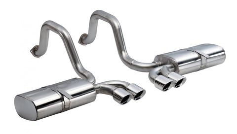 2.5 Inch Axle-Back Sport Dual Exhaust Polished 3.5 Inch Tips 97-04 Corvette/Z06 5.7L Stainless Steel Corsa Performance - Never Ending Details