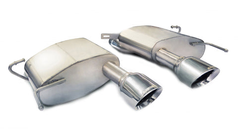 2.5 Inch Axle-Back Sport Dual Exhaust 4.5 Inch Polished Tips 11-15 Cadillac CTS-V Coupe 6.2L V8 Stainless Steel Corsa Performance - Never Ending Details
