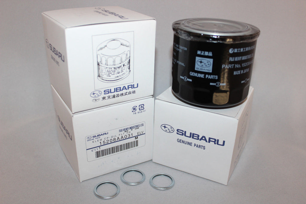OIL FILTER KIT W/ CRUSH RING 3.6 H6 PACK OF THREE - SUBARU (TRIBECA) - Never Ending Details