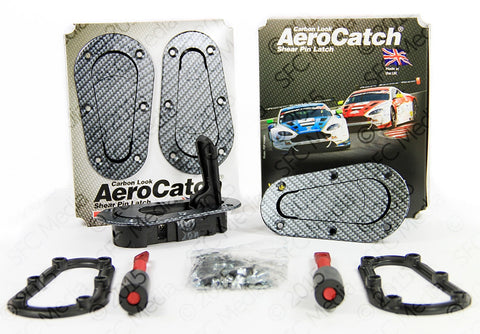 AeroCatch Plus Flush Non-Locking Kit (Carbon Look) - Never Ending Details