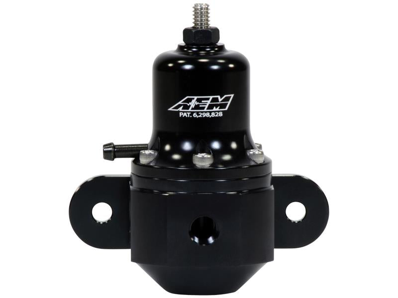AEM High Capacity Universal Black Adjustable Fuel Pressure Regulator - Never Ending Details