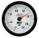 AEM Analog 2.4Bar Boost Gauge (Metric) - Never Ending Details - 2