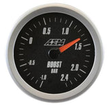 AEM Analog 2.4Bar Boost Gauge (Metric) - Never Ending Details - 3