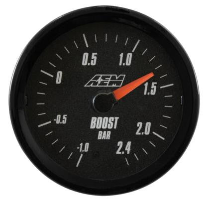 AEM Analog 2.4Bar Boost Gauge (Metric) - Never Ending Details