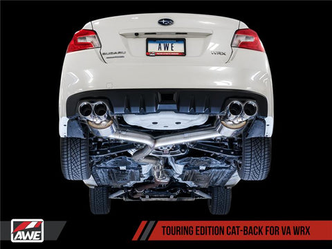 AWE Tuning Touring Edition Exhaust Chrome Silver Tips (102mm) - Subaru (WRX 15+)