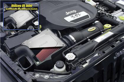Airaid MXP Intake System w/ Tube (Oiled / Red Media) - JEEP (WRANGLER 3.6L) - Never Ending Details