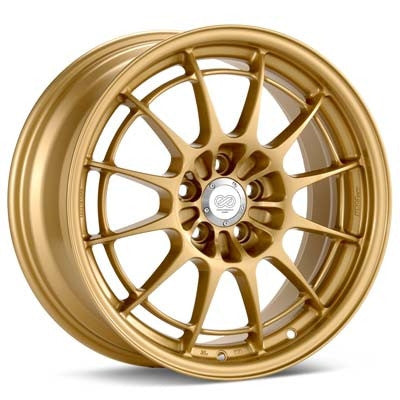 Enkei NT03+M 18x9.5 5x100 40mm Offset Gold Wheel - Never Ending Details