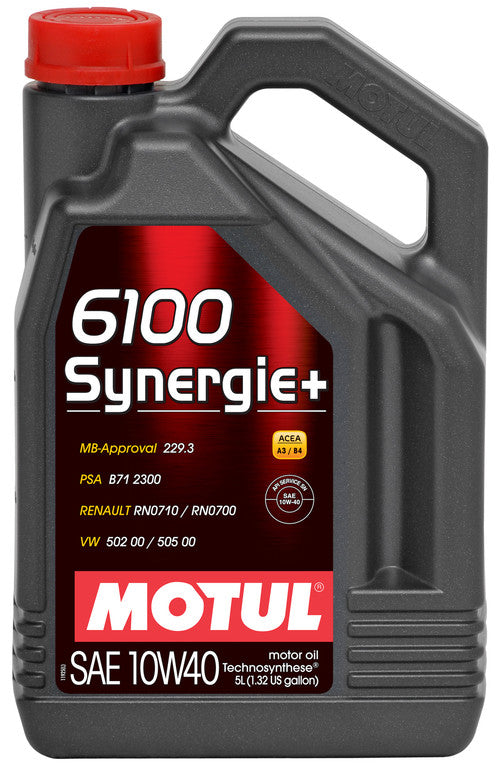 Motul 5L Technosynthese Engine Oil 6100 SYNERGIE+ 10W40 - Never Ending Details