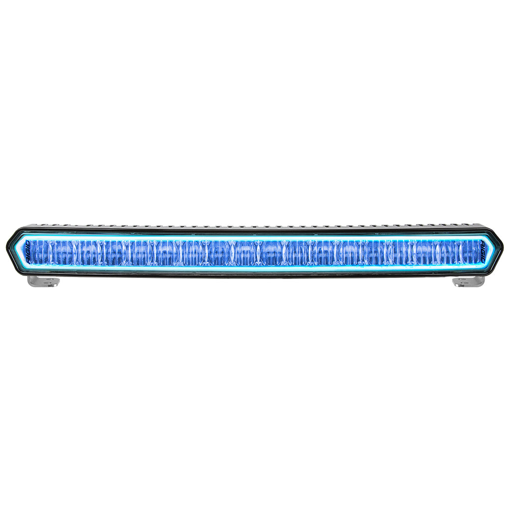 20 Inch LED Light Bar Black W/Blue Halo Off Road SR-L Series Rigid Industries - Never Ending Details