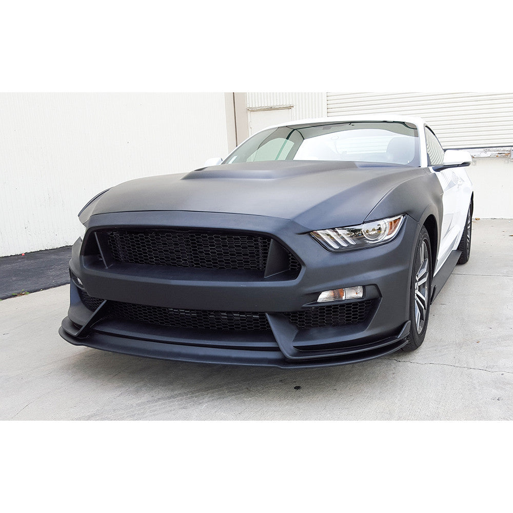 Anderson Composites GT350 Style Mustang Fiberglass Front Bumper with Front Lipr - (2015-17 Mustang)