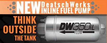 DeatschWerks Externally Mounted In-Line Pump - Never Ending Details