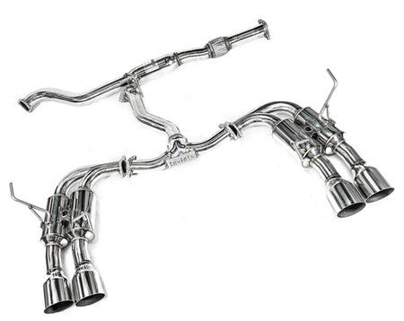 Invidia R400 Gemini Single Layer Quad Stainless Steel Tip Cat-Back Exhaust