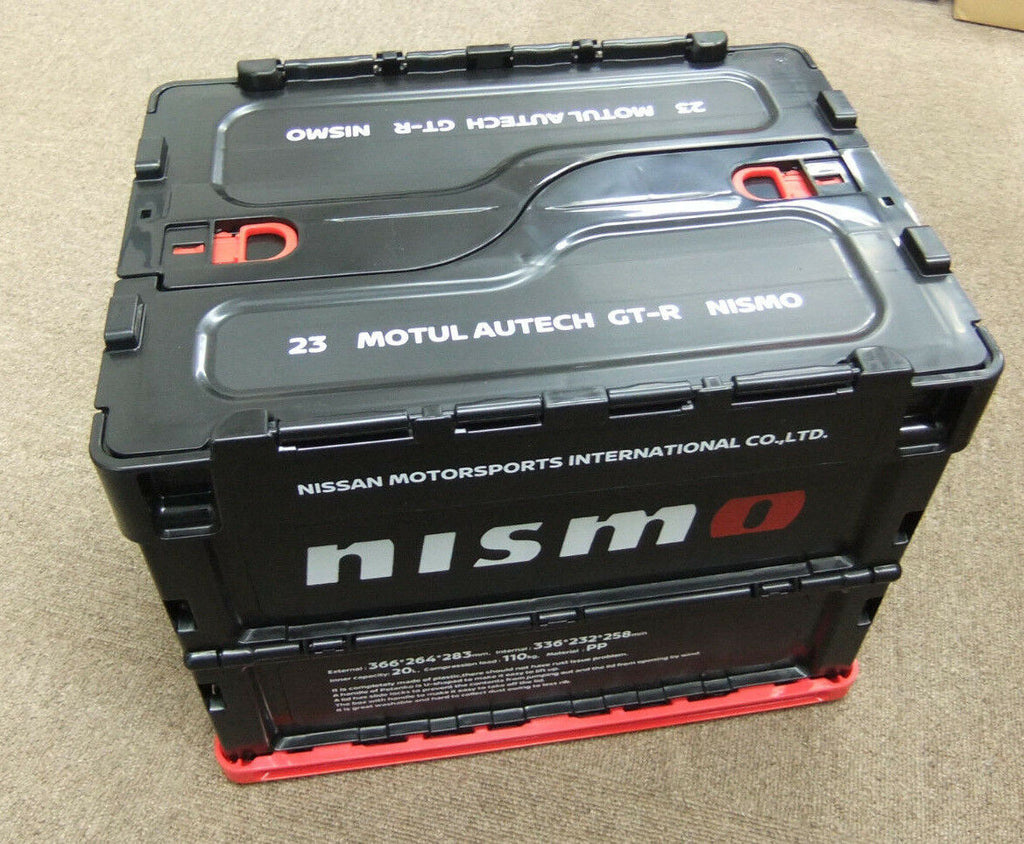 NISMO FOLDABLE CONTAINER BOX 20L BLACK