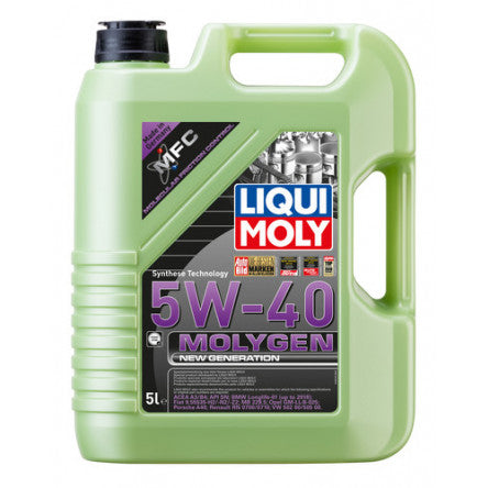 Liqui Moly Molygen New Generation - 5W-40 Synthetic (5 Liter) - Never Ending Details
