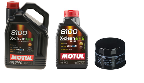 Motul 8100 5W30 X-CLEAN EFE Oil Change Kit - Subaru (WRX)