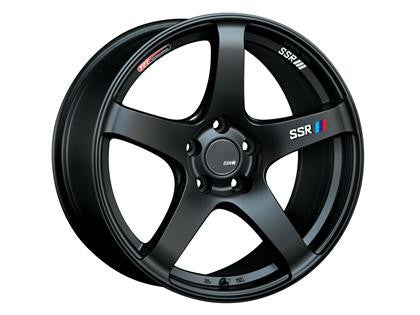 SSR GTV01 18x8.5 5x114.3 48mm Offset Flat Black Wheel - Never Ending Details