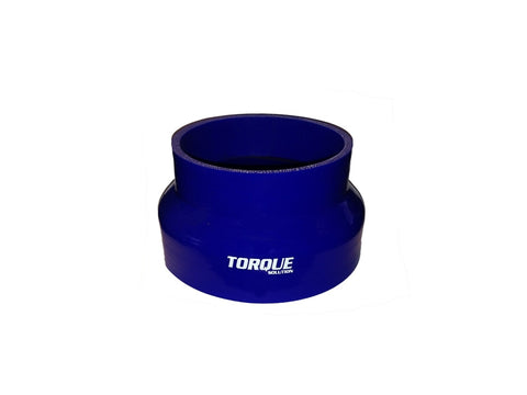 "Torque Solution Transition Silicone Coupler: 3"" to 4"" Blue Universal - Never Ending Details"