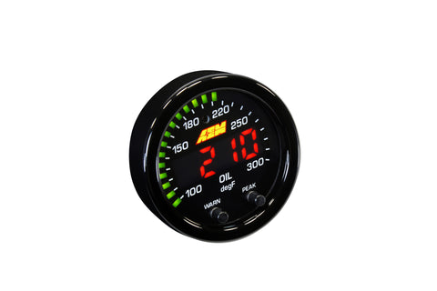 AEM X-Series Temperature Gauge 100-300F / 40-150C - Never Ending Details