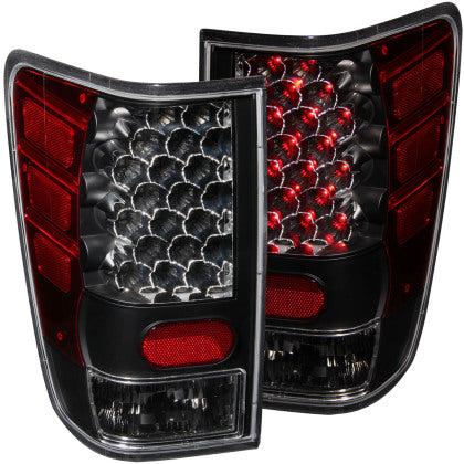 ANZO 2004-2015 Nissan Titan LED Taillights Black